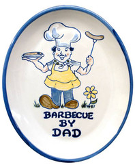 "15"" Oval Personalized Barbecue Platter"