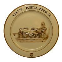 "13"" Round UPS Skyline  Embossed Platter"