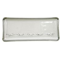 "14"" Long Rectangular Tray in Embossed Running Horse"