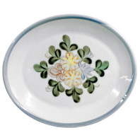 "15"" Oval Platter in Country Flower Blue"