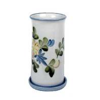 "10.5"" Wine Cooler & Saucer in Country Flower Blue"