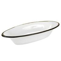 """15.5"""" Small Soirée Bowl in Black Fleur de Lis"""