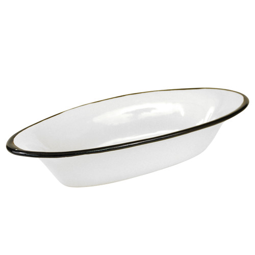 "15.5"" Small Soirée Bowl in Black Fleur de Lis"