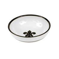 """9"""" Serving Bowl with Fleur de Lis in Black"""