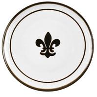 "16"" Round Platter with Fleur de Lis in Black"
