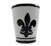 9 oz Julep Cup in Black Fleur de Lis