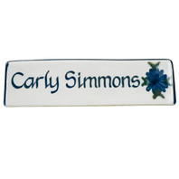 Personalized Name Plate in Bachelor Button