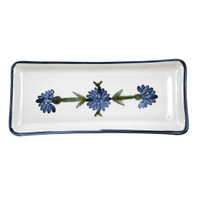 "14"" Long Rectangular Tray in Bachelor Button"
