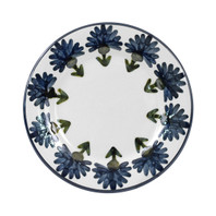 "9"" Rimmed Plate in Bachelor Button"