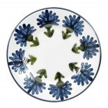 "8"" Rimmed Plate in Bachelor Button"