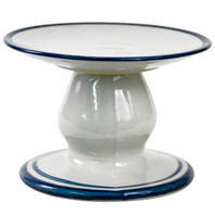 Small Cake Stand with Blue Bands