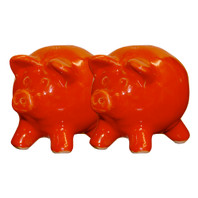 Red Pig Salt & Pepper Shakers