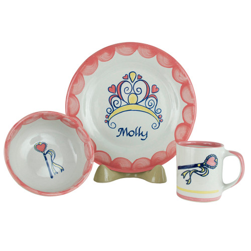 Personalized 3-Piece Child's Place Setting with Princess