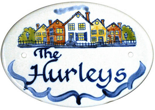 Personalized Door Plaque, Row of Houses