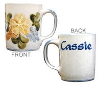 Personalized 14 oz Country Flower Blue Mug