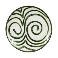 "Thin 9"" Plate in Graffiti Green, Stoneware Plate in Graffiti Green"