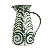 2 1/2 QT Pitcher in Graffiti Green