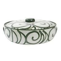 3qt Casserole & Cover in Graffiti Green, Stoneware Casserole Dish