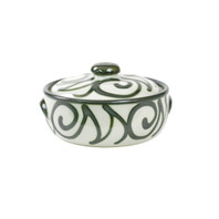 1qt Casserole & Cover in Graffiti Green