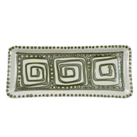 Large Rectangular Tray in Graffiti Green