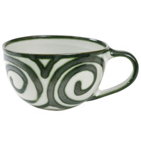 16 Ounce Mug with Handle in Graffiti Green
