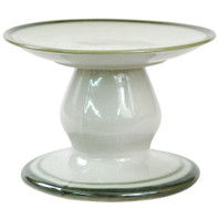 Small Cake Stand with Green Bands