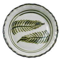 Thumb Print Pie Plate in Fern