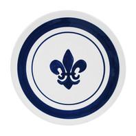 """14"""" Round Platter in Blue Fleur De Lis"""