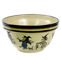 "11"" Crock Kat's Witches Bowl"