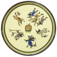 "16"" Round Kat's Witches Platter"