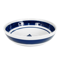 "11"" Serving Bowl in Blue Fleur de Lis"