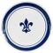 """16"""" Round Platter in Blue Fleur de Lis"""