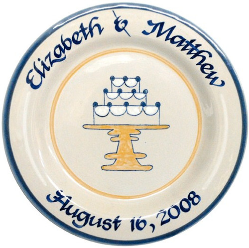Personalized Wedding Cake Plate