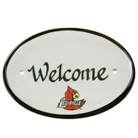 "U of L Cardinal 8"" Oval Door Plaque"