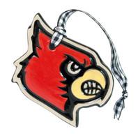 University of Louisville Cardinal Embossed Ornament