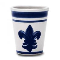 11 oz Julep Cup in Blue Fleur de Lis
