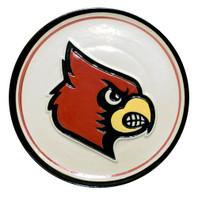 """U of L Cardinal Embossed 16"""" Platter"""