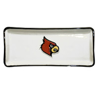 U of L Cardinal Embossed Bread Tray