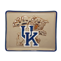 "14"" UK Wildcat, Embossed Square Appetizer Tray"