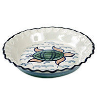 Pinched Pie Plate in Sea Life