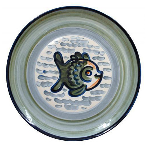 "14"" Round Platter in Sea Life"