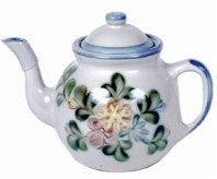 Teapot & Cover in Country Flower Blue