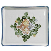 "14"" Square Tray in Country Flower Blue"