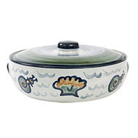 3 Qt Casserole & Cover in Sea Life