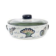 2 Qt Casserole & Cover in Sea Life