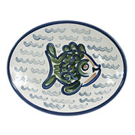 "12"" Oval Platter in Sea Life"