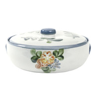 3 Qt Casserole & Cover in Country Flower Blue