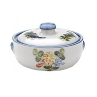 2 Qt Casserole & Cover in Country Flower Blue