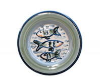 "8"" Rimmed Plate in Sea Life"