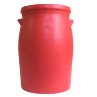 "17.25"" Large Flower Vase in Matte Red"